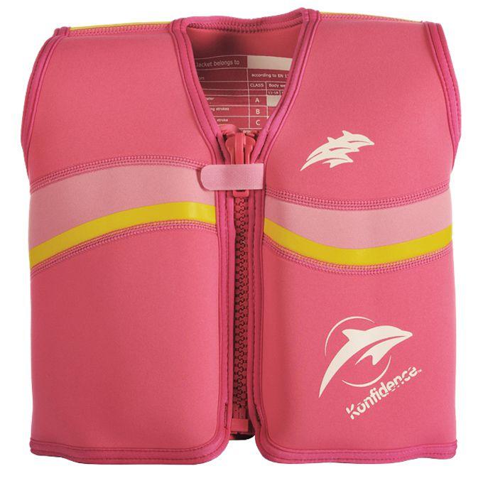 Colete de treinamento para Natação Neoprene Fuschia Pink - Konfidence