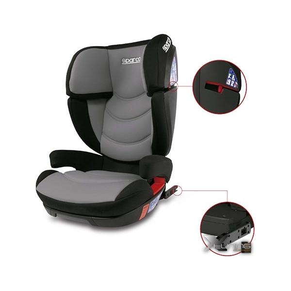 Cadeira F700i Sparco - Isofix - 15 à 36 Kg - Cinza