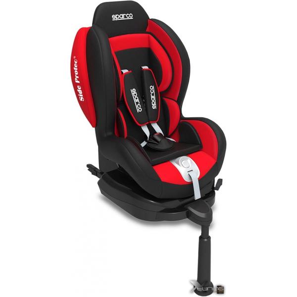 Cadeira F500i Sparco - Isofix - 9 à 18 Kg - Vermelha