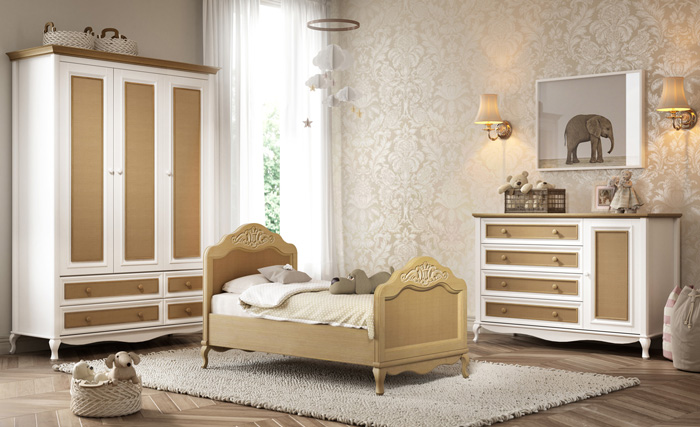 Linha Le Classé - Quarto Completo Le Classé - Ambiente com Mini-cama Palha