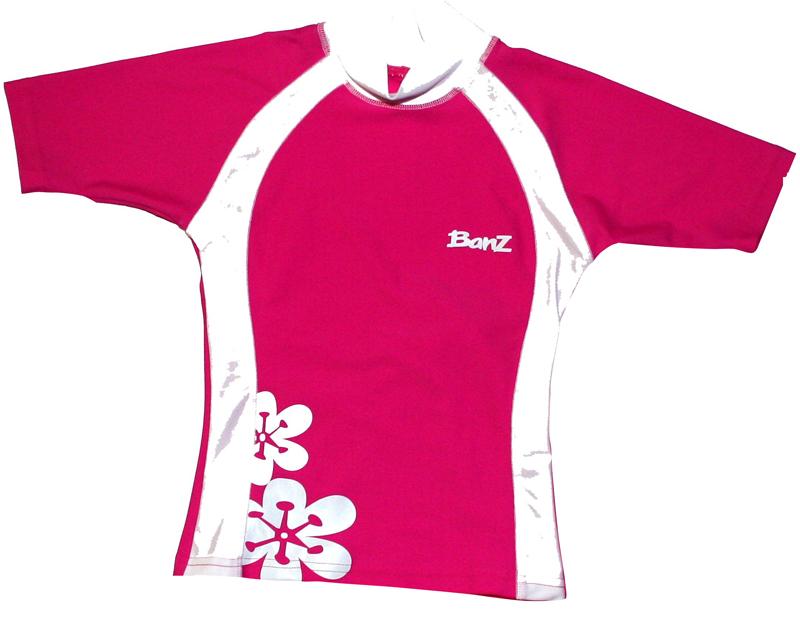 Camiseta para Banho Banz - Proteção UPF 50+ - Pink Floral