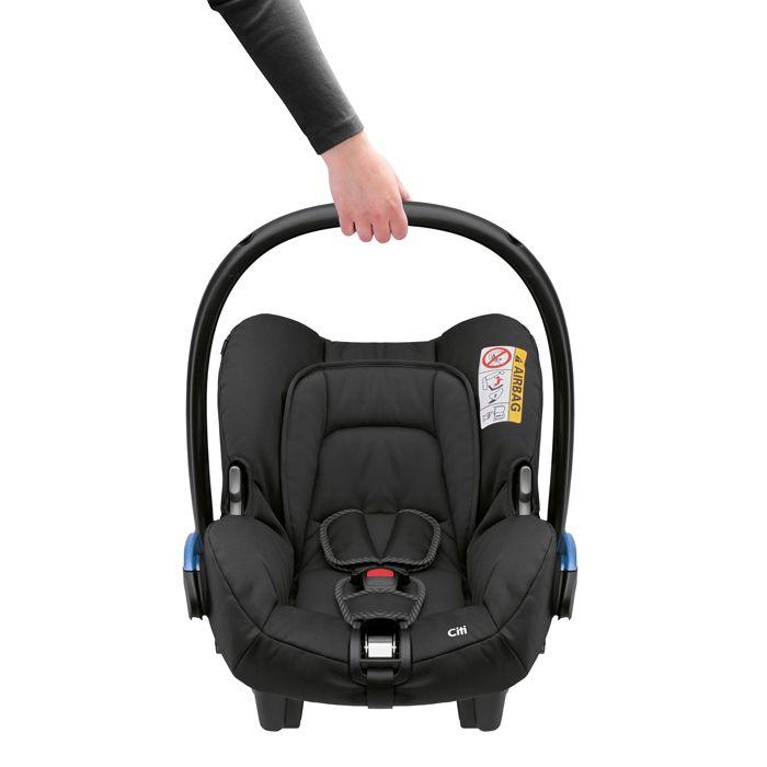 Bebê Conforto Citi Maxi Cosi c/ Base - 0 à 13 Kg - Black Raven