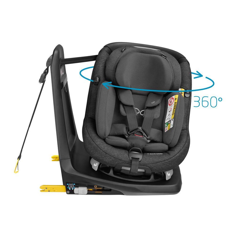 Cadeira AxissFix Plus - Nomad Black - 0 à 18 Kg - Maxi Cosi