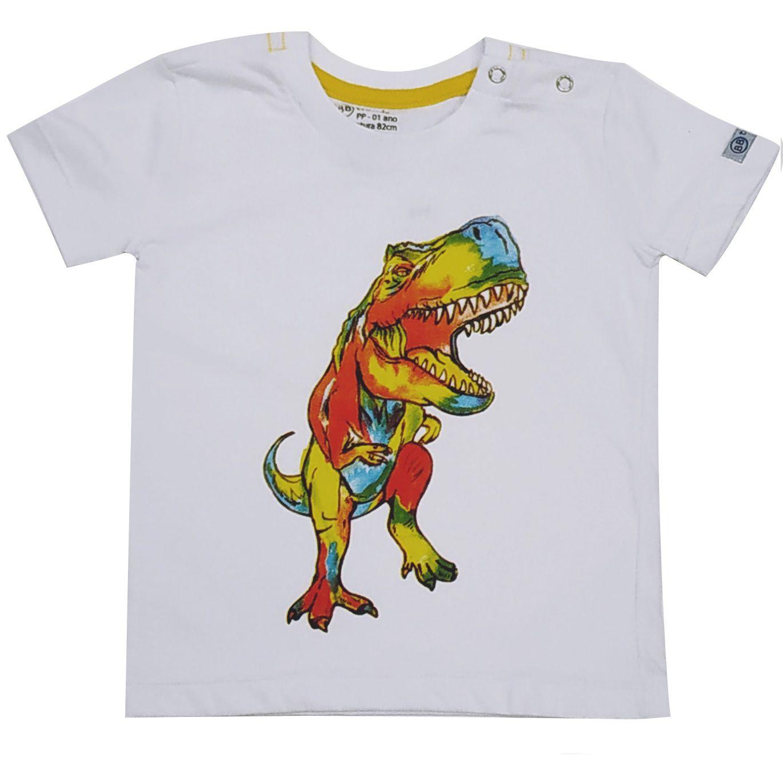 Camiseta Funny Dinossauro Branco