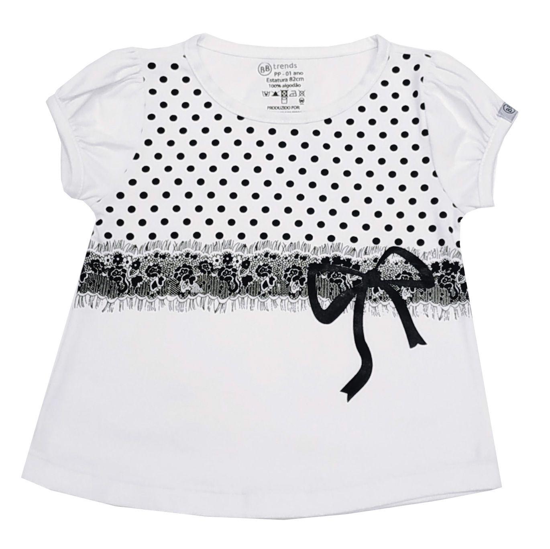 Camiseta - Funny - Laço - Renda