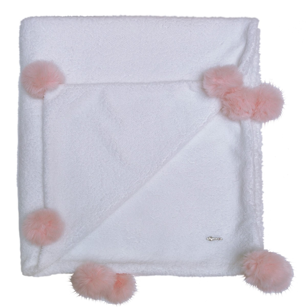 Cobertor Bebê - PomPom Rosa
