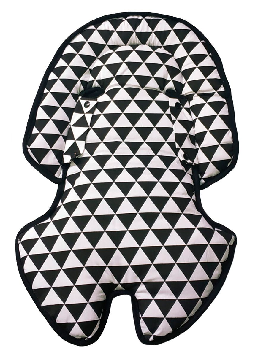Hug - Almofada Anatômica dupla face  Preta / Triangulo