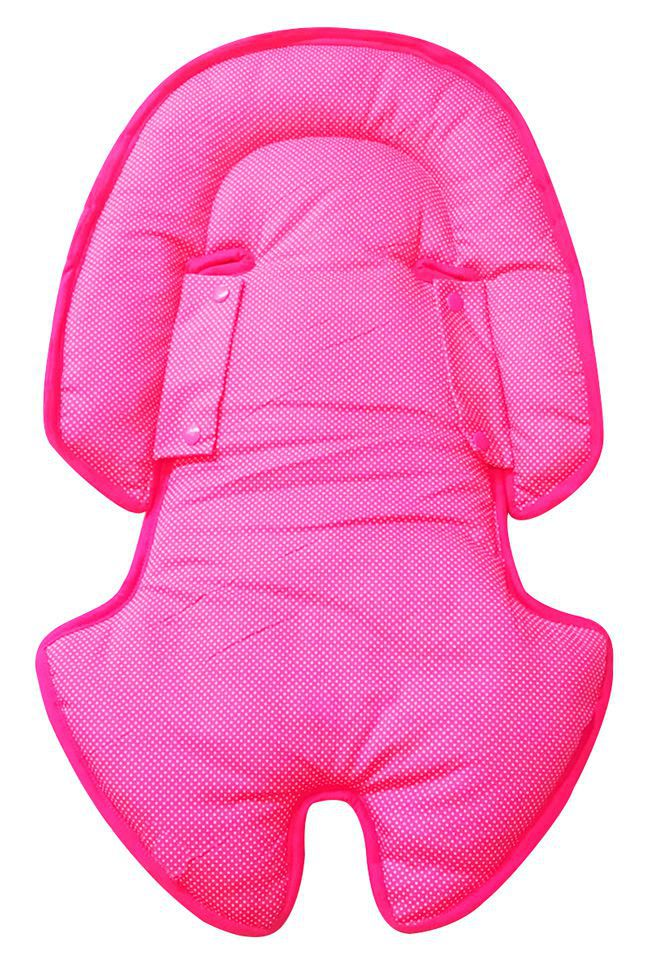 Hug - Almofada Anatômica dupla face  Rosa / Estampado