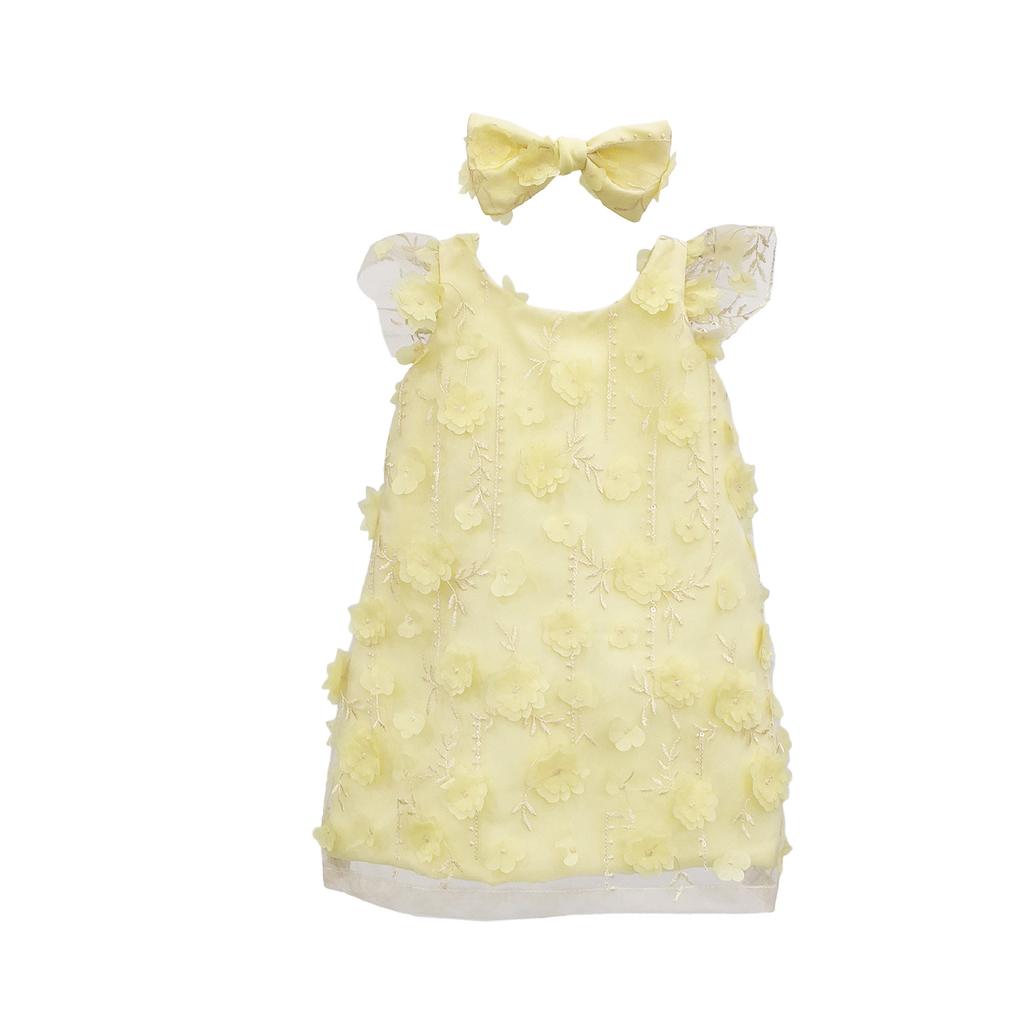 Kit Vestido  Aplique Flores