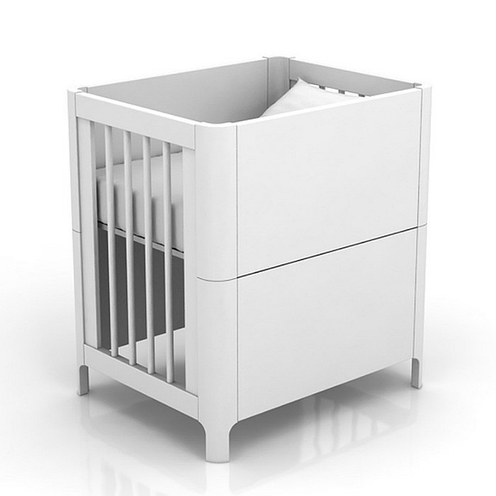 Mini Berço B. - Grade Fixa - Branco