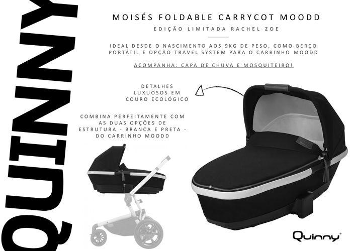 Moisés Foldable Carrycot - Edicao Limitada - Rachel Zoe - Quinny