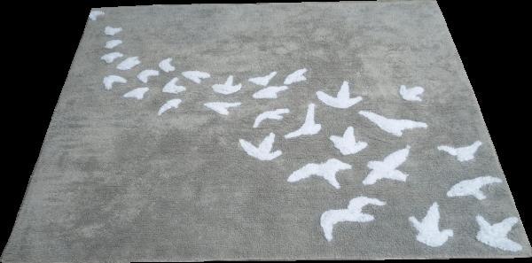 TAPETE BIRDS CINZA