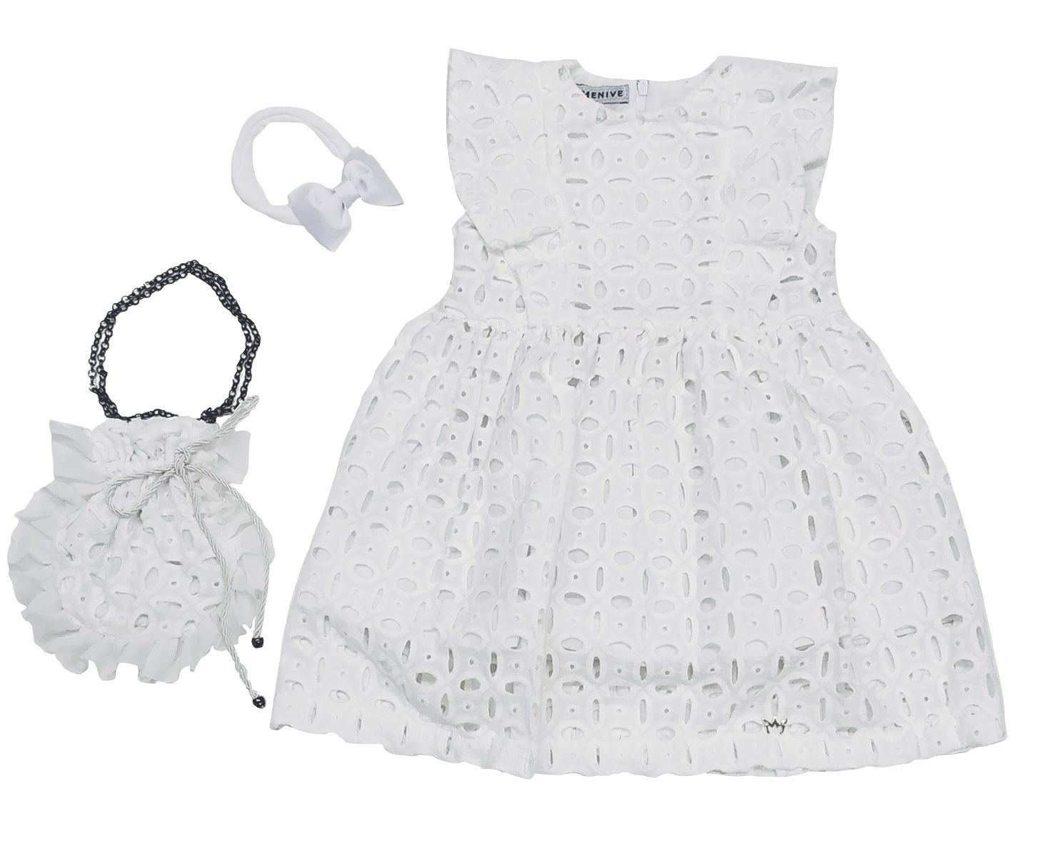 Vestido Alice Branco Mais Bolsa