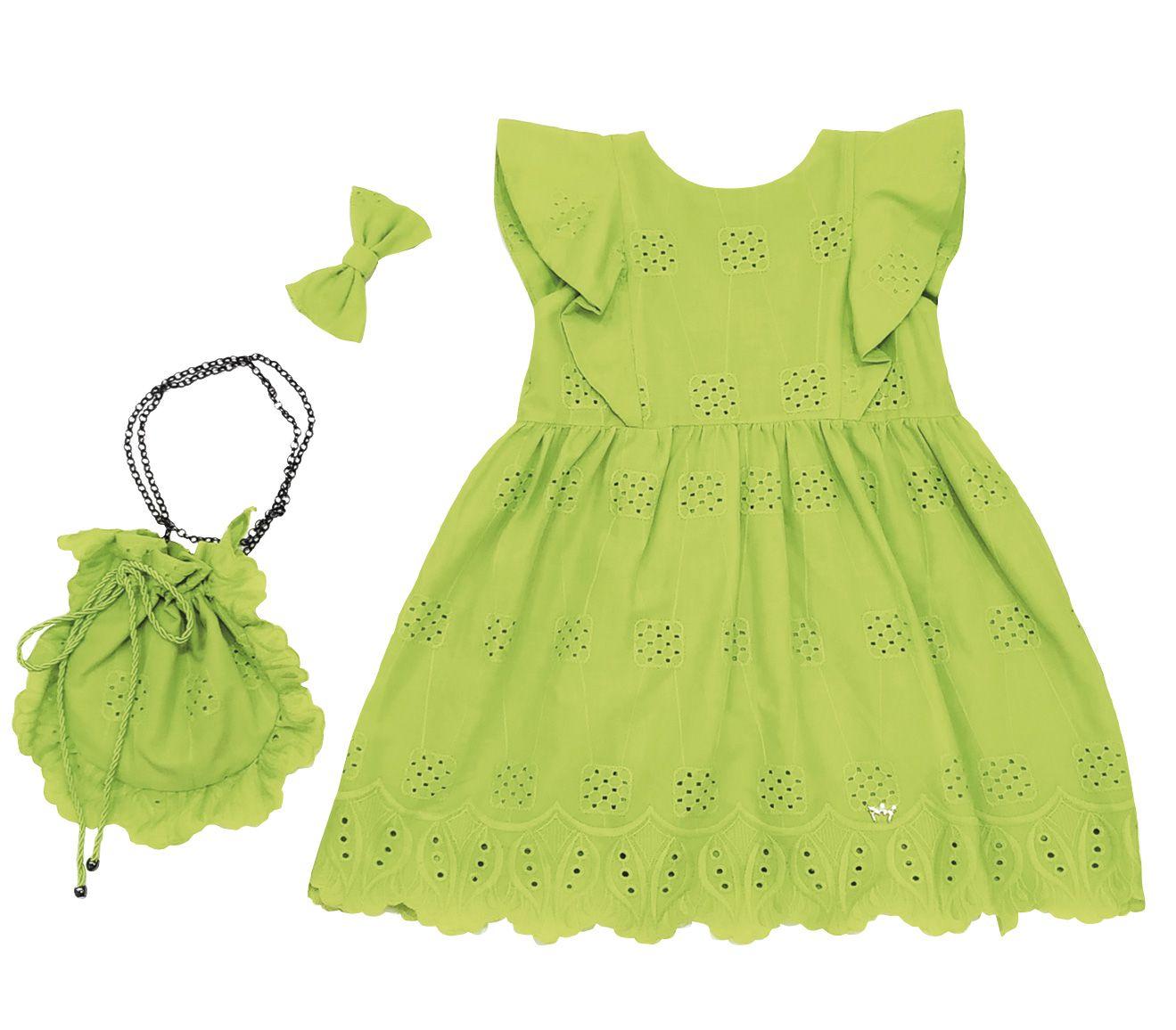 Vestido Alice Verde Mais Bolsa