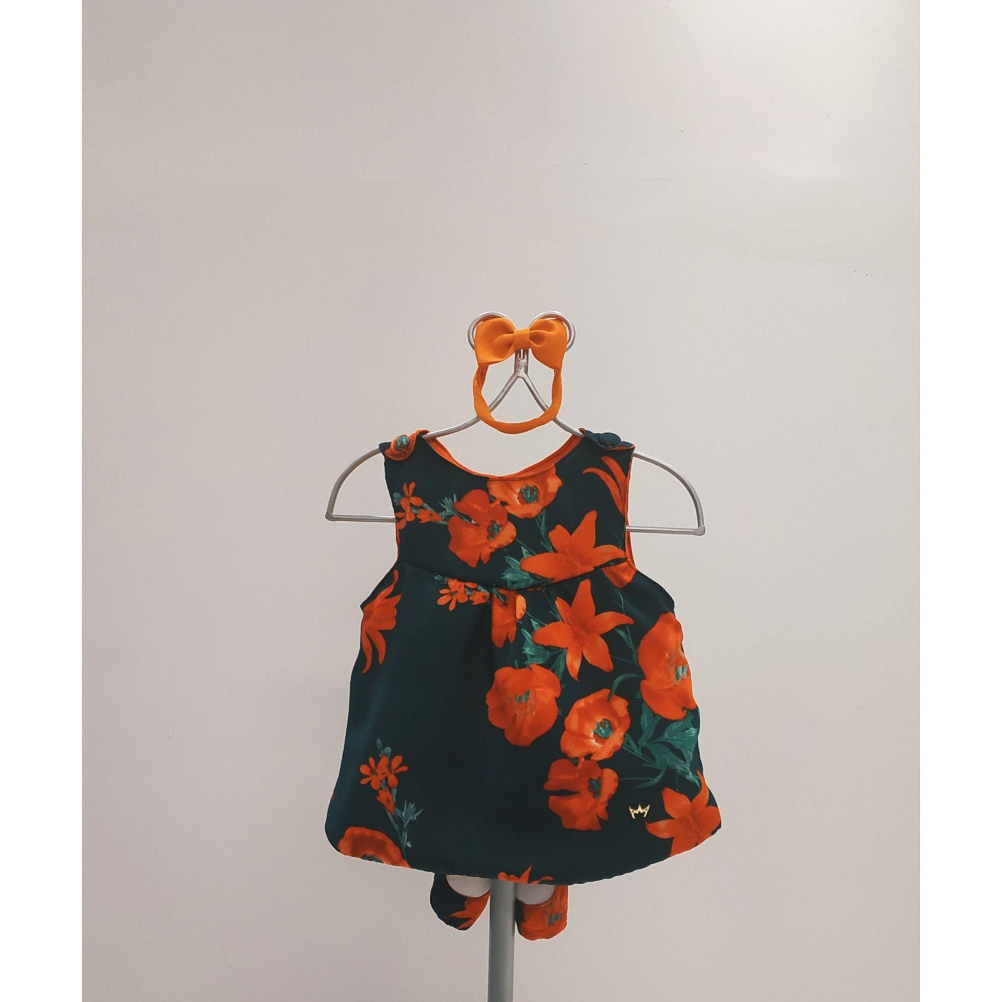 Vestido Anabel Laranja - com faixa