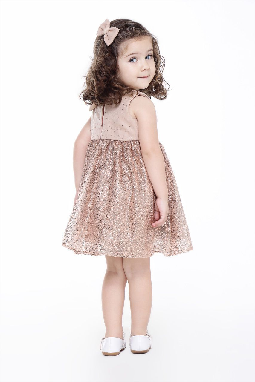 Vestido Chanel - Laço Glitter Bronze
