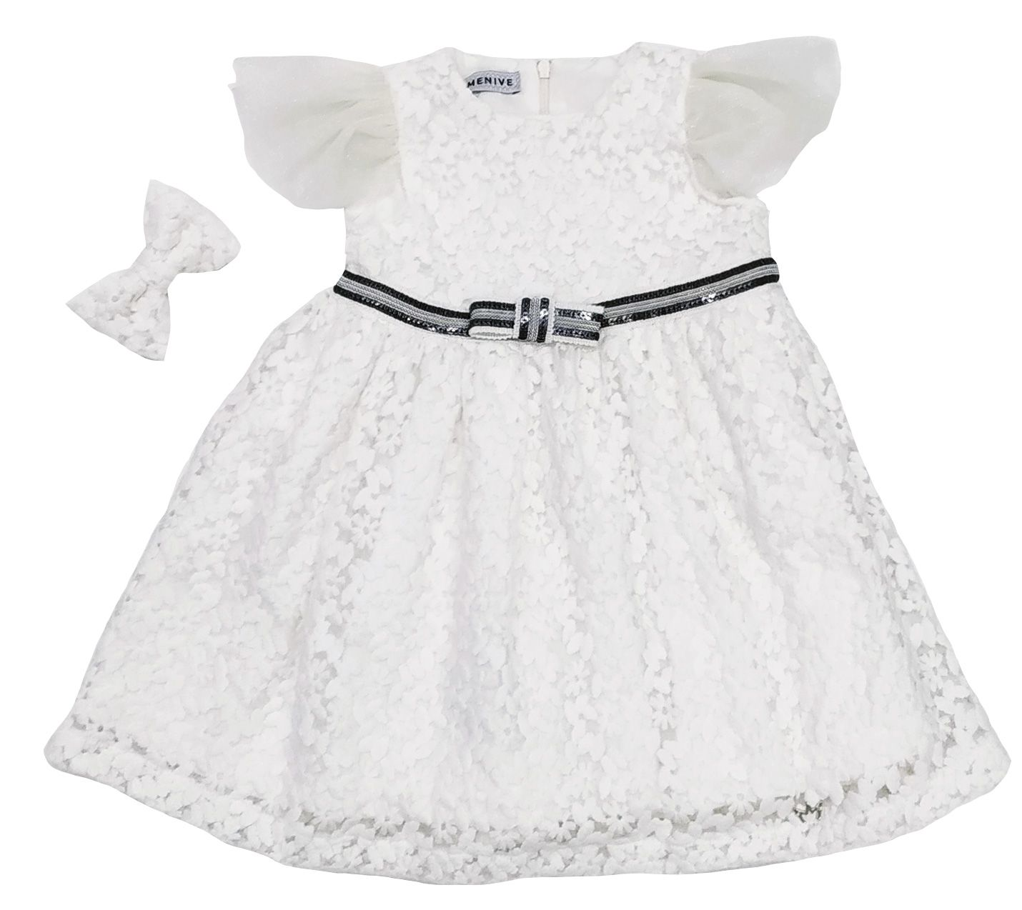 Vestido Chanel - Renda Laço Perola Mais Bolsa