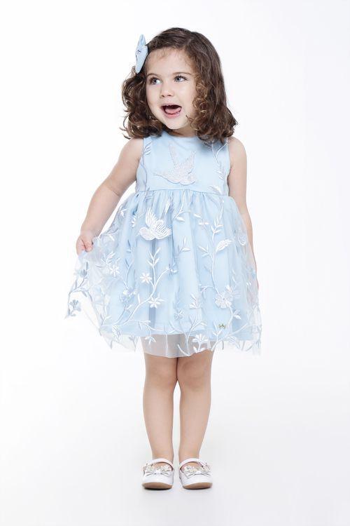 Vestido Claire Tule Bordado