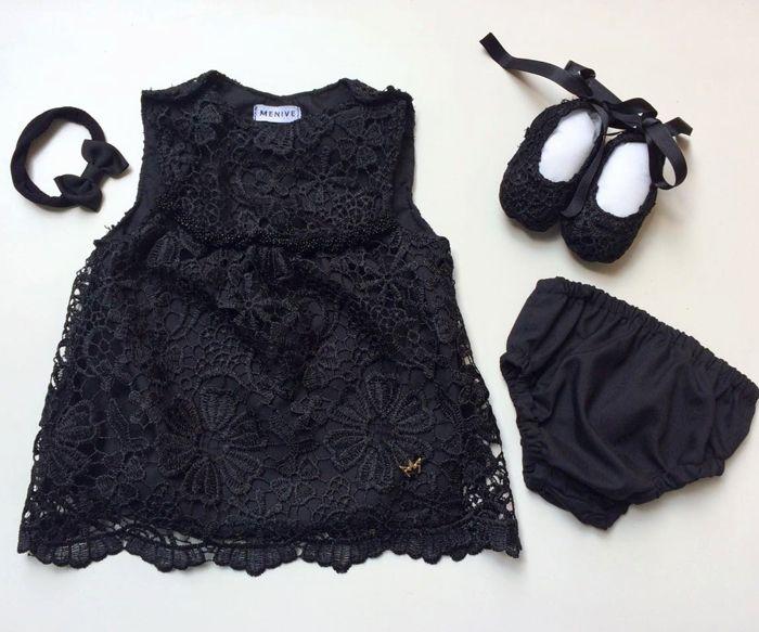 Vestido Grace Renda - Preto  - Com Faixa