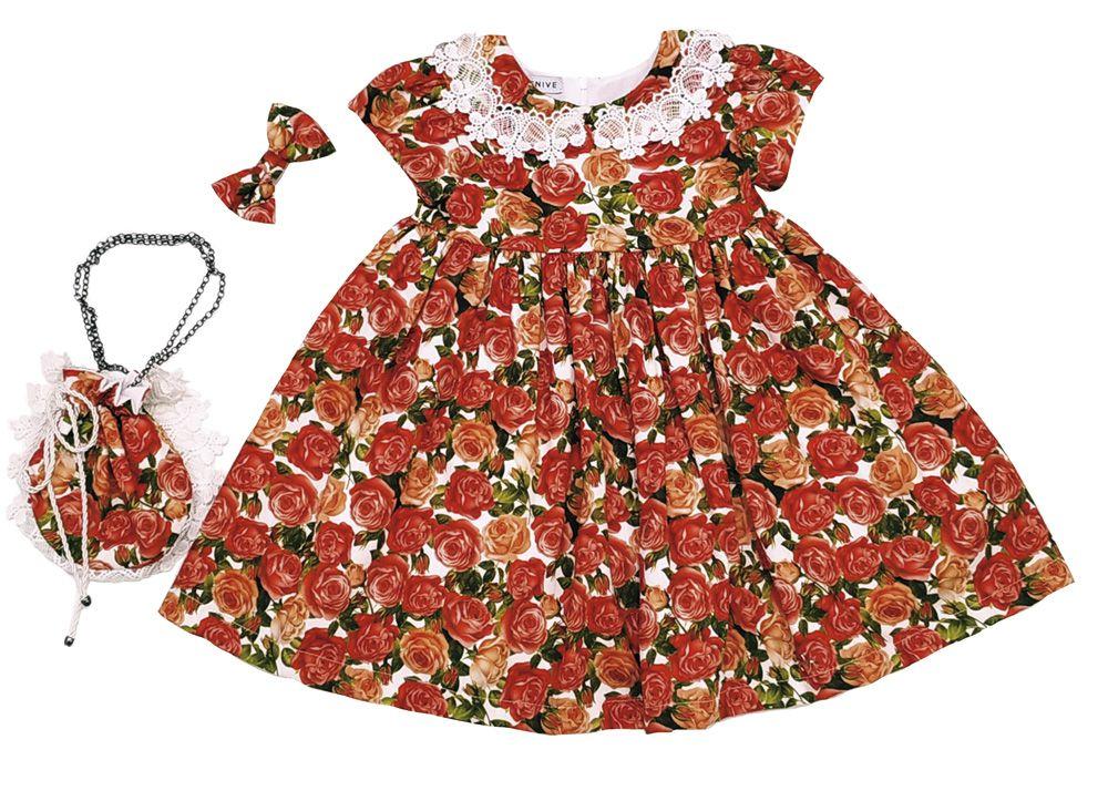 Vestido Lila - Flores Mais Bolsa