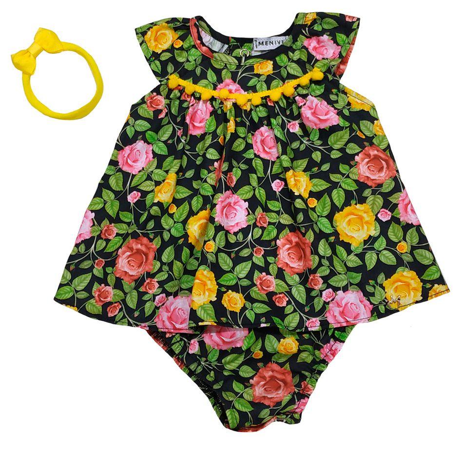 Vestido Yasmim - Floral - Com Faixa