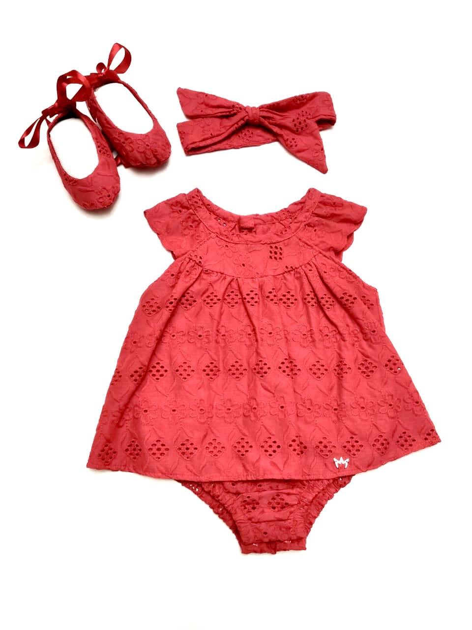 Kit Vestido Yasmin - Vermelho
