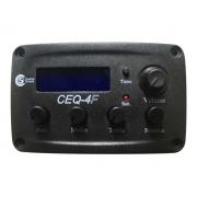 Captador para Violão Flat com Pré, Equalizador e Afinador Custom Sound CEQ 4F