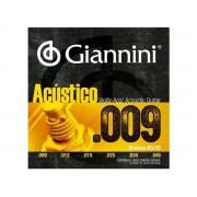 Encordoamento Giannini Acústico para Violão .009 Bronze GESWAL