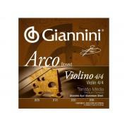 Encordoamento Giannini Arco para Violino 4/4 Tensão Média GEAVVA