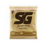 Encordoamento para Violão SG Strings Aço 010 Bronze