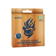 Encordoamento Solez para Violão Aço 012 Bronze 85/15 SLATB12