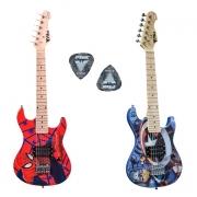 Guitarra Infantil PHX Marvel Homem Aranha ou Capitão América