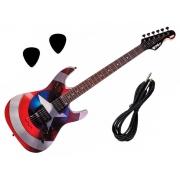 Guitarra PHX Marvel Homem Aranha, Capitão América, Homem de Ferro, Venom