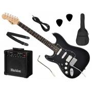 Kit Completo Guitarra Stratocaster PHX Strato Power para Canhoto + Amplificador e Acessórios