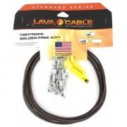Kit de cabos para pedais Lava Cable TightRope solder-free - preto