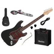 Kit Guitarra Stratocaster Giannini G 100 3 Singles + Amplificador e Acessórios