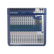 Mesa de Som Analógica 16 Canais Soundcraft Signature 16 com Efeito