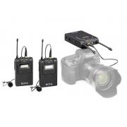 Microfone de Lapela Duplo Sem Fio Boya BY-WM8 Pro-K2 - 2 Transmissores '