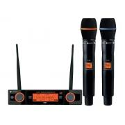 Microfone Sem Fio Duplo Kadosh KDSW 482 M