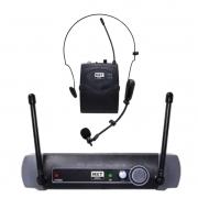 Microfone Sem Fio MXT Headset / Lapela UHF-516BP 100 Canais
