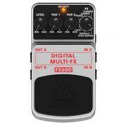 Pedal Behringer FX600 - Multi Efeitos (Delay, Chorus, Flanger, etc)