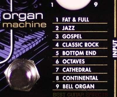 Electro Harmonix B9 Organ Machine - Pedal Simulador Orgão