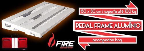 Pedal Frame Fire Alumínio com bag deluxe