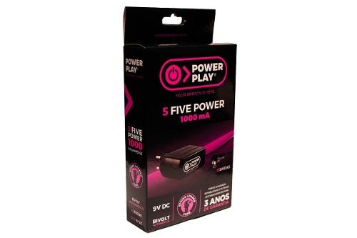 Fonte Para Até 5 Pedais - Power Play Five Power 1000ma