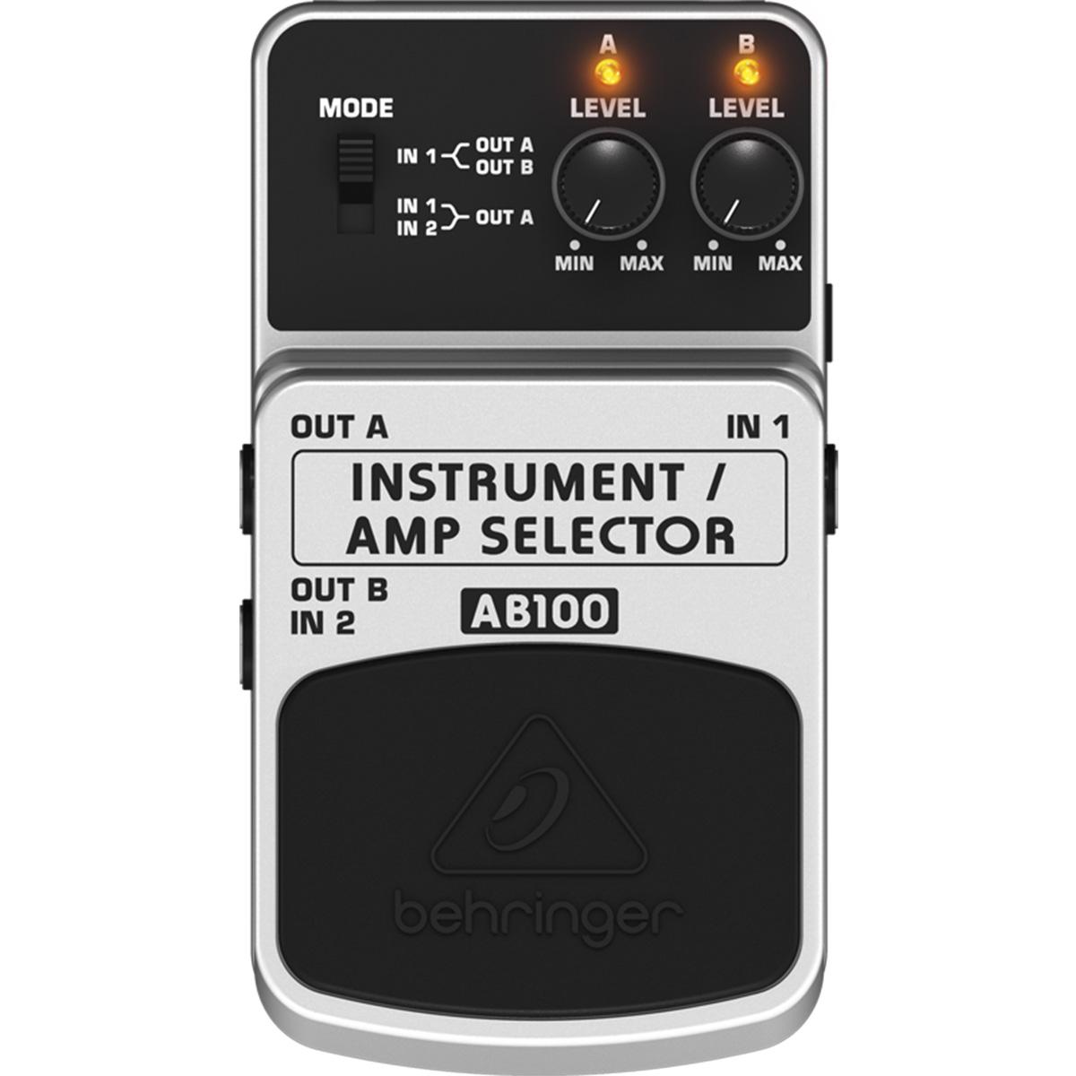 Pedal Behringer AB100 - Instrument/Amp Selector