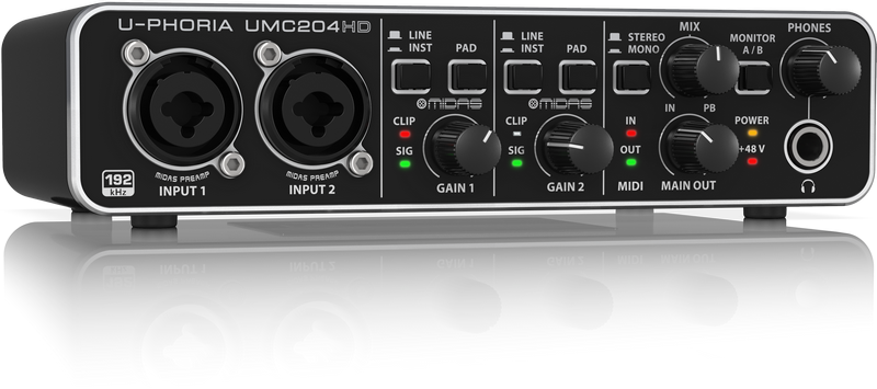 Interface Behringer UMC204HD - 192kHz/24-Bit