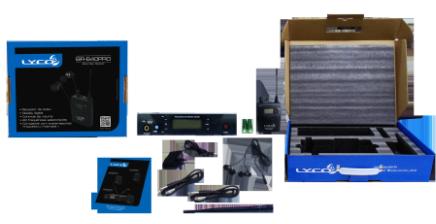 Lyco PE-640PRO - Sistema in ear sem fio completo