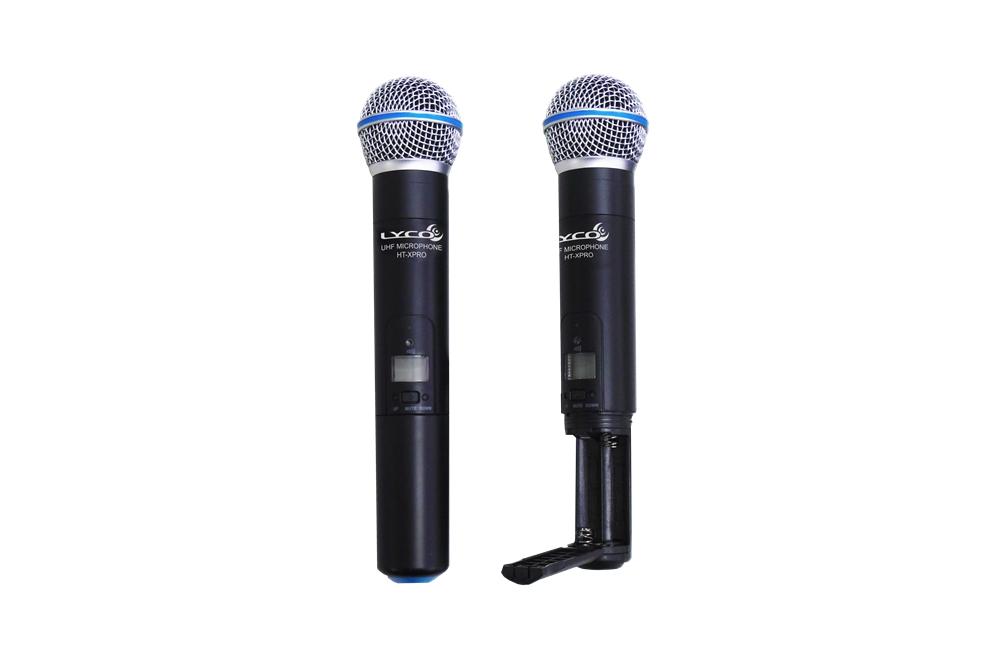 Microfone Sem Fio Duplo De Mão Lyco UHXPRO-02MM