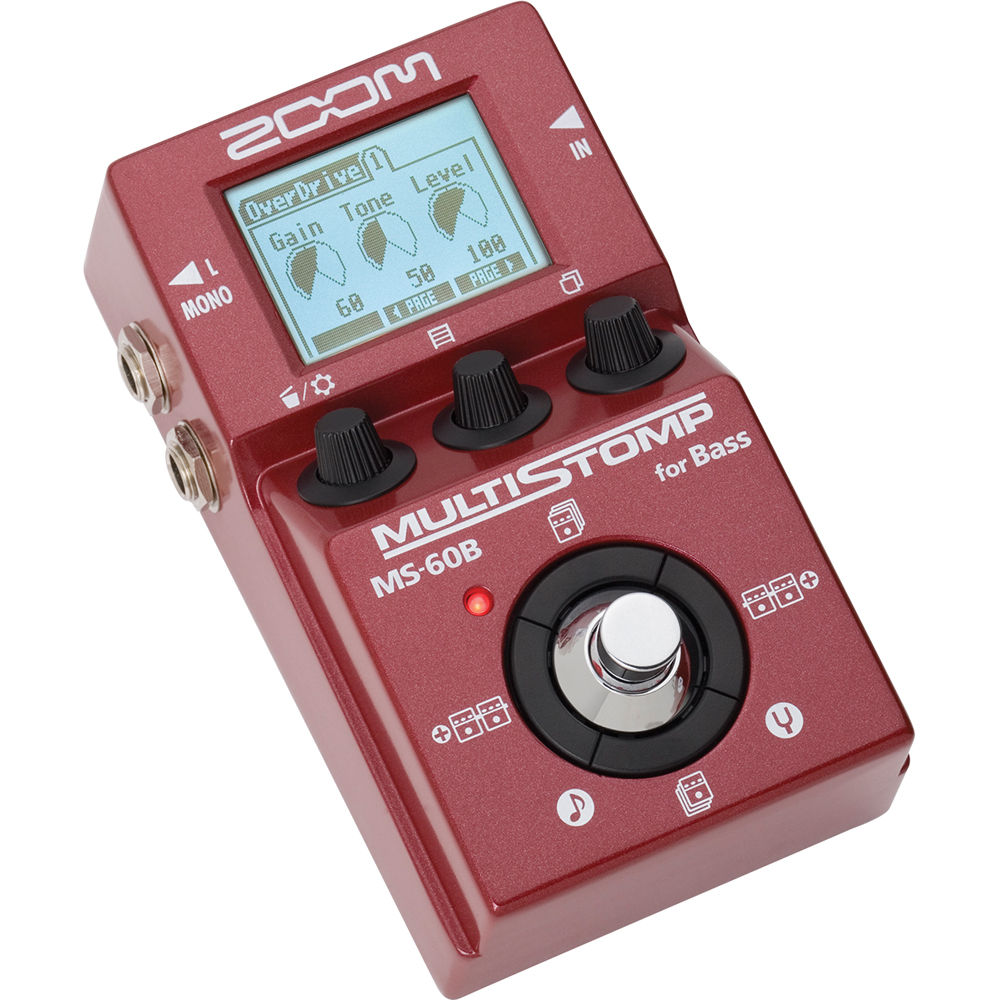 Zoom MS-60B - Multistomp Pedal multiefeitos para Baixo