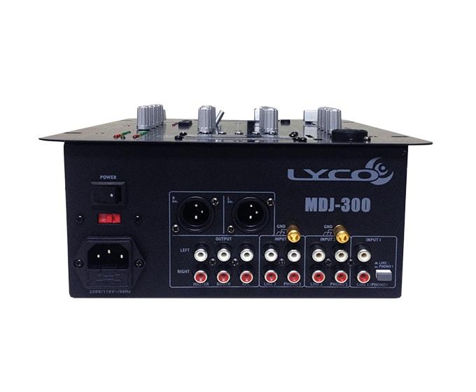 Mixer para DJ Lyco MDJ-300 - Com entrada USB e SD integrada